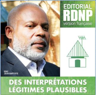 EDITORIAL 21 Mai 2020 - Des Interprétations Légitimes Plausibles - Eric Jean Baptiste